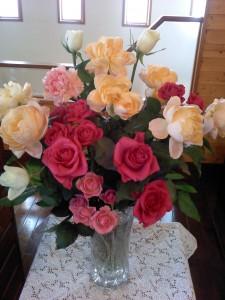 華やかなバラの花