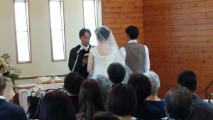 17日には結婚式が行われました。温かく素晴らしい式でした💛