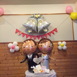 来週土曜日は教会で結婚式があります。HAPPY WEDDING💛